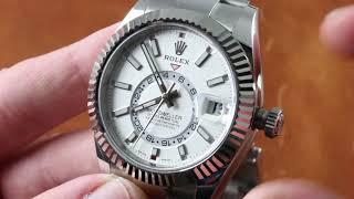 Rolex Sky-Dweller STAINLESS STEEL 326934 GMT Annual Calendar Luxury Watch Review