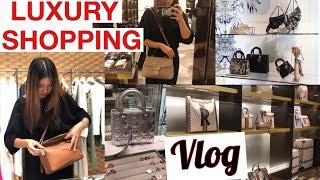 LUXURY SHOPPING WITH ME ft Chanel Dior Gucci Loewe | Alice Chen
