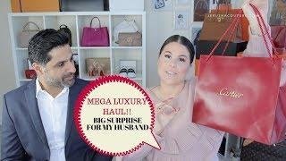 MEGA LUXURY HAUL SURPRISING MY HUSBAND | Jerusha Couture