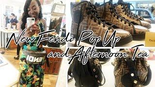 Luxury Shopping at the NEW Fendi Pop-up + Afternoon Tea! | Duchess of Fashion