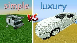 simple car vs luxury car in #Minecraft