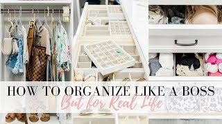 HOW TO ORGANIZE LIKE A BOSS BUT FOR REAL LIFE - The Closet | LuxMommy