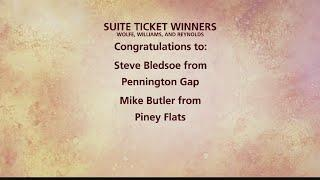 Winners of the Wolfe, Williams, and Reynolds Luxury Suite Race Tickets