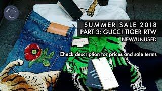 NEW Men's Luxury Summer Sale 2018 Pt. 3 – Gucci Tiger RTW: Jeans (31), Duke Shirt (XS), Sweater (XS)