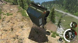 EXTREME CRASHES - High Fall of Off Road Challenge - Beamng.Drive #451