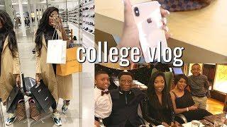college vlog   Exam Grade Reveal, Luxury b-day Shopping, New YSL and LV bag + family birthday dinner