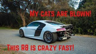 Cats blew out! R8 Twin Turbo Flyby
