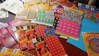 Wow!Bonus!  Scratchcards LUXURY LINES...MONEY SPINNER..and Money. money