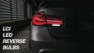 BMW F30 LCI LED REVERSE BULBS • INSTALL AND REVIEW