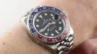 "2018 Rolex GMT-Master II ""PEPSI"" 126710BLRO Luxury Watch Review"
