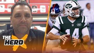 Anthony Becht on Jets QB situation: Sam Darnold is a 'luxury' for the Jets | NFL | THE HERD