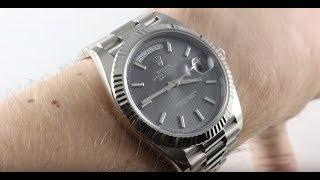 Rolex Day-Date 40 (DARK RHODIUM) (228239) Luxury Watch Review
