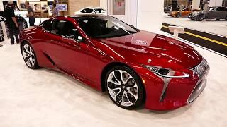 New 2019 Lexus LC500 Luxury Sports Coupe - Exterior Tour Walk Around - 2018 OC Auto Show