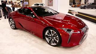 New 2019 Lexus LC500 Luxury Sports Coupe - Exterior Tour Walk Around - 2018 OC Auto Show