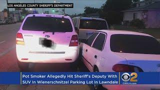 Early Morning Pot Smoker Hits Sheriff's Deputy With SUV In Weinerschnitzel Parking Lot