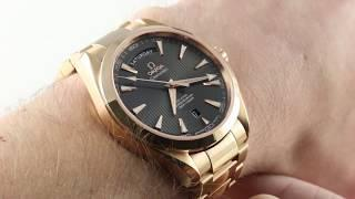 Omega Seamaster Aqua Terra 150m Day-Date 231.50.42.22.06.001 Luxury Watch Review