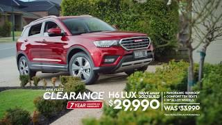 HAVAL 2018 Plate Clearance-Go Lux with H6