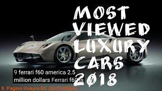 Top 10 Luxury Cars in the world 2018 || Top 10 Expensive Costly Cars in the world || OMG