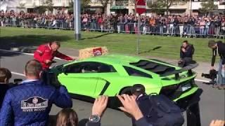 Supercar sound / accelerations - Knokke GT Tour 18