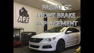 VOLKSWAGEN PASSAT CC FRONT BRAKE REPLACEMENT - APEngineering