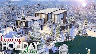 LUXURY HOLIDAY CABIN WITH POOL&SPA | The Sims 4 NO CC Winter Speed Build