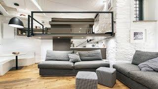 Modern Luxury Urban-Chic Small Home w/ Suspended Loft Bedroom | Small House Design Ideas