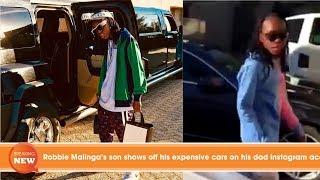 Robbie Malinga's son shows off his expensive cars on his dad instagram account