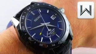 Grand Seiko Spring Drive GMT Black Ceramic Limited Edition SBGE039 Luxury Watch Review