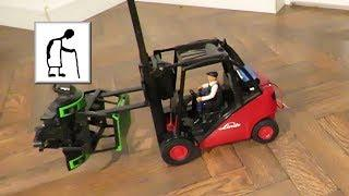 RC conversion Wire controlled Linde Forklift Truck SHORT