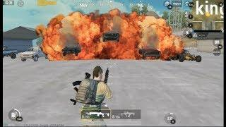 pubg - 3 cars have burned by one shot-green screen