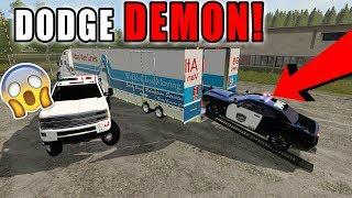 HAULING LUXURY POLICE CARS | DODGE CHARGER | KENWORTH MOVING TRUCK | FARMING SIMULATOR 2017