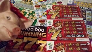 VIP Cashword...WINNING 777.Scratchcards Royal 7...FULL of 500's..LUXURY LINES..CASH BLAST.