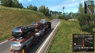 Euro Truck Simulator| Luxury cars delivery from France to Germany