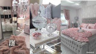 PINK & GREY GLAMOROUS LUXURY BEDROOMS & LIVING ROOMS TOUR INSPO & IDEAS 2019