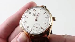 IWC Portuguese Minute Repeater IW5449-05 Luxury Watch Review