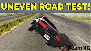 BeamNG - SURVIVING THE UNEVEN ROAD TEST!!