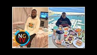 Big boy Hushpuppi shows off his luxury lifestyle as he dines on rooftop with world-class view