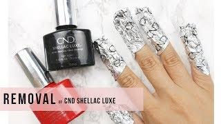 HOW-TO | REMOVAL- CND Shellac Luxe