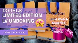 LOUIS VUITTON DOUBLE LIMITED EDITION UNBOXING + JORD WATCH GIVEAWAY !