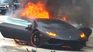 EXPENSIVE LUXURY CAR CRASH COMPILATION, 2018