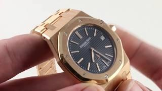 Audemars Piguet Royal Oak Extra-Thin 15202OR.OO.1240OR.01 Luxury Watch Reviews
