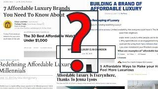 """""""Affordable Luxury"""" Real or Marketing Hoax? Men's Fashion 