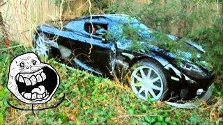 Abandoned Supercars and Luxury cars around the World Part.13 - Ferrari Lamborghini Jaguar Honda NSX