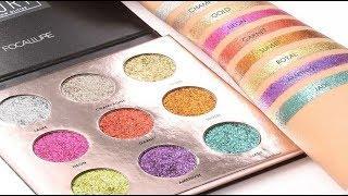 FOCALLURE  Luxury Electric Glow Glitter Palette   ¿El mejor GLITTER prensado?  Primeras Impresiones