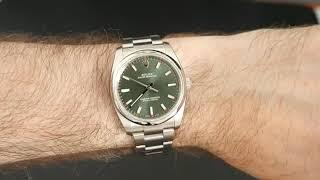 2015 Rolex Oyster Perpetual 34mm Olive Green Reference 114200 • Luxury Lifestyle Channel