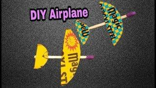 How To Make Small Airplane From Matches-Simple Mini Toy Homemade