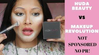 HUDA BEAUTY EASY BAKE VS MAKEUP REVOLUTION LUXURY POWDER | TOP DUPE? REVIEW + WEAR TEST BANANA BREAD