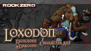 D&D Why you should play Loxodon - MTG Dungeons & Dragons Character Art Rookzer0