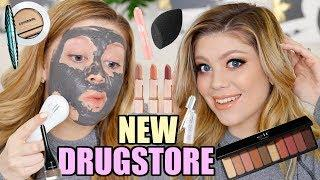 TRYING OUT NEW DRUGSTORE MAKEUP & SKINCARE! | ELF, COVERGIRL & MORE!