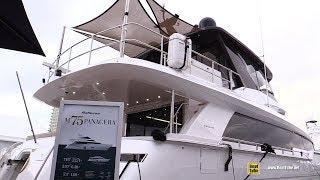 2018 Hatteras M75 Panacera Luxury Yacht - Deck, Interior Walkaround - 2018 Fort Lauderdale Boat Show